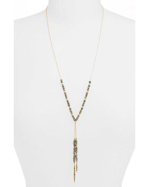 Gorjana | Metallic Power Stone Semiprecious Stone Necklace | Lyst