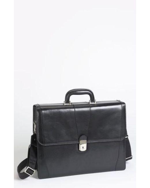 Bosca   Black Double Gusset Briefcase for Men   Lyst