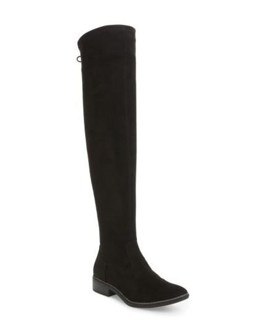 Tamaris | Black Phanie Over The Knee Stretch Boot | Lyst