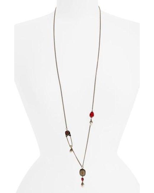 Alexander McQueen | Metallic Pendant Necklace | Lyst