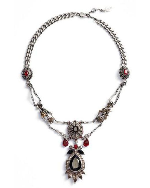 Alexander McQueen | Metallic Skeleton Frontal Necklace | Lyst