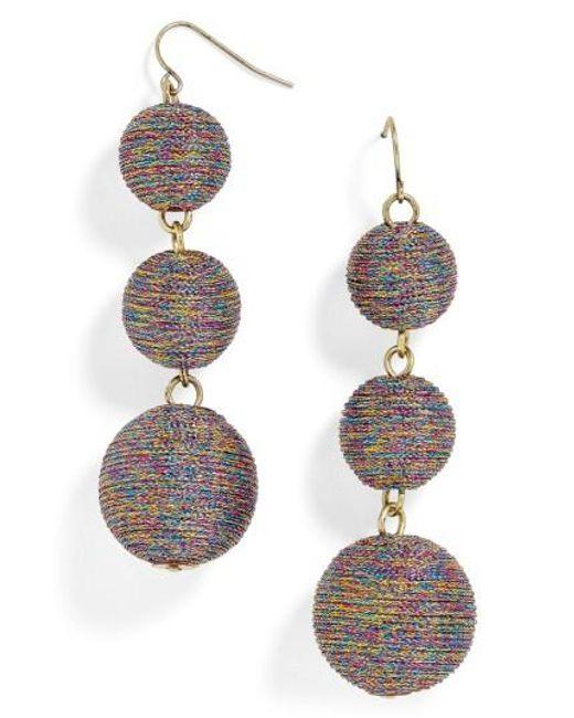 BaubleBar | Metallic Shimmer Crispin Drop Earrings | Lyst