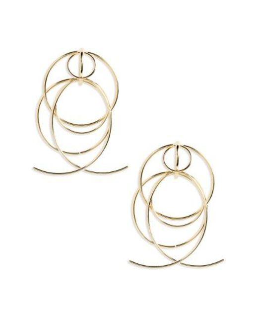 DANNIJO   Metallic Lyanna Drop Earrings   Lyst