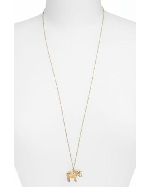 Anna Beck   Metallic Jewelry That Makes A Difference Elephant Pendant Necklace   Lyst