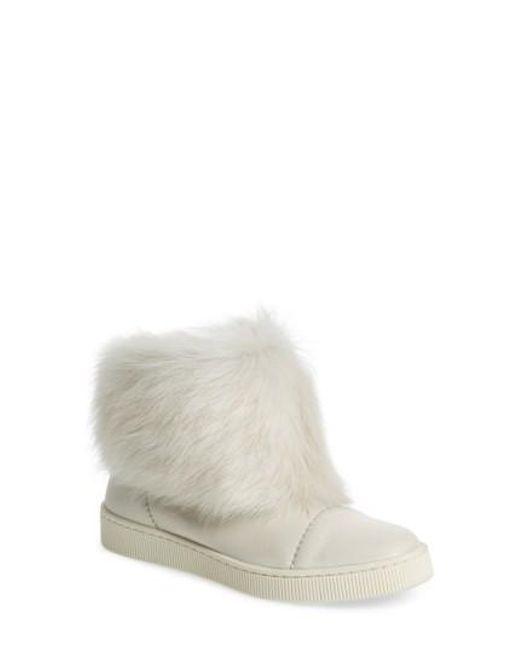 Pedro Garcia | White Priya Genuine Shearling Sneaker Boot | Lyst