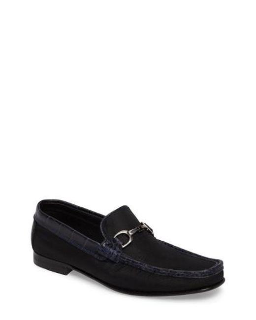 Donald J Pliner | Black Darrin Embossed Loafer for Men | Lyst
