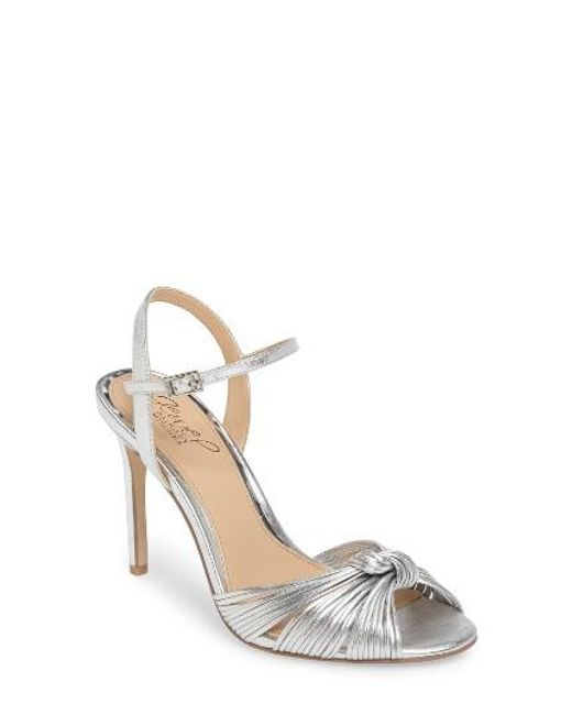 Badgley Mischka | Metallic Lady Ankle Strap Sandal | Lyst