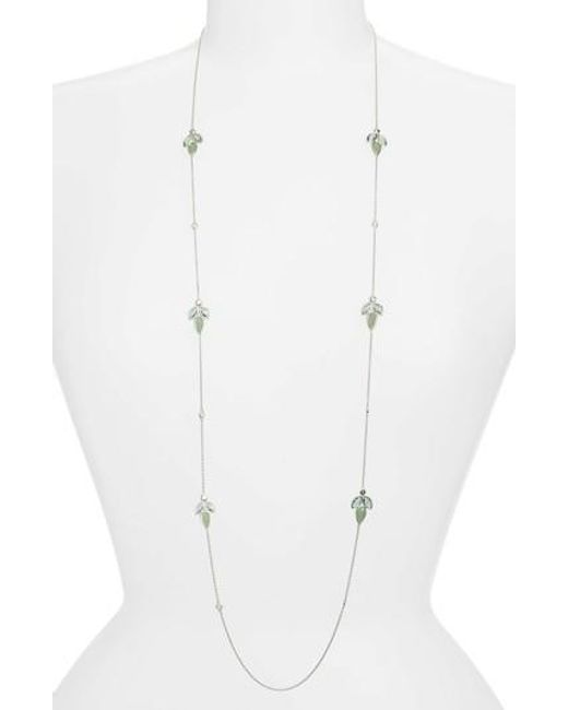 Judith Jack | White Lakeside Station Necklace | Lyst