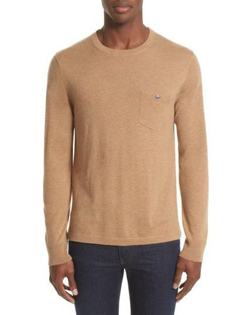 Todd Snyder | Natural Cashmere Pocket T-shirt for Men | Lyst