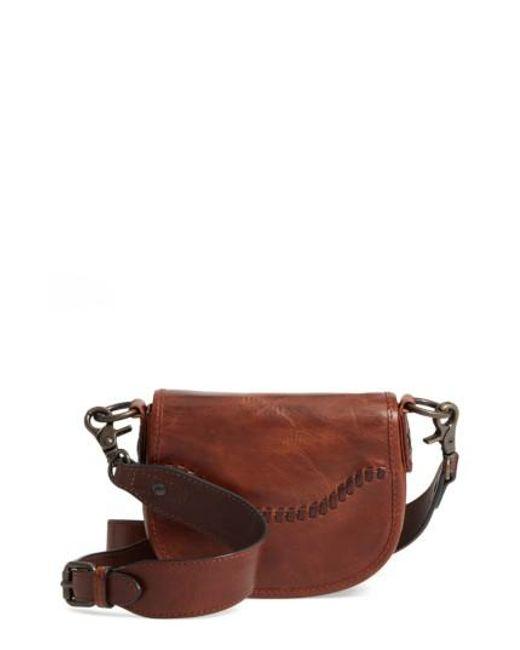 Frye | Brown Mini Melissa Whipstitch Leather Saddle Bag | Lyst
