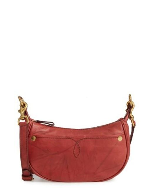 Frye | Red Small Campus Leather Crossbody Bag | Lyst