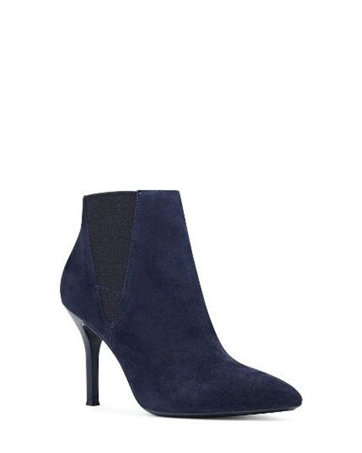 Nine West | Blue Pointy Toe Bootie | Lyst