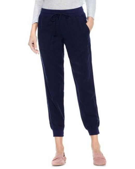 Two By Vince Camuto | Blue Twill Jogger Pants | Lyst