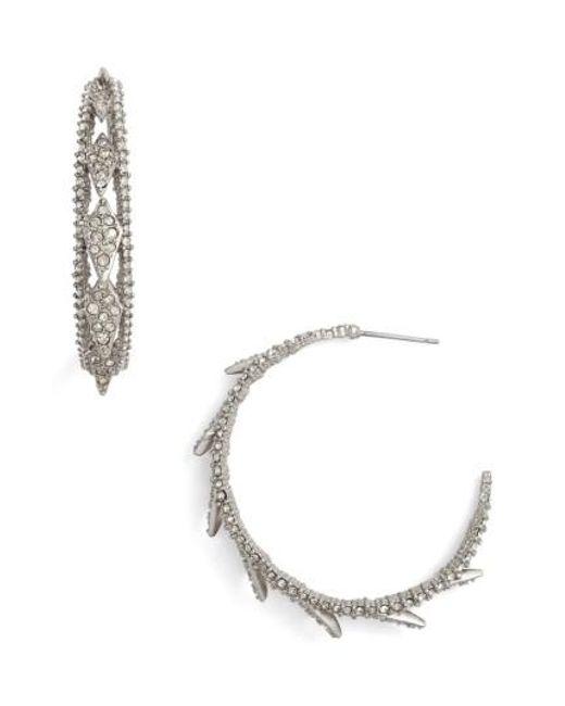 Alexis Bittar   Metallic Crystal Encrusted Hook Earrings   Lyst
