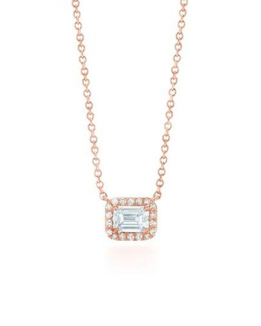 Kwiat | Metallic Emerald Cut Diamond Pendant Necklace | Lyst