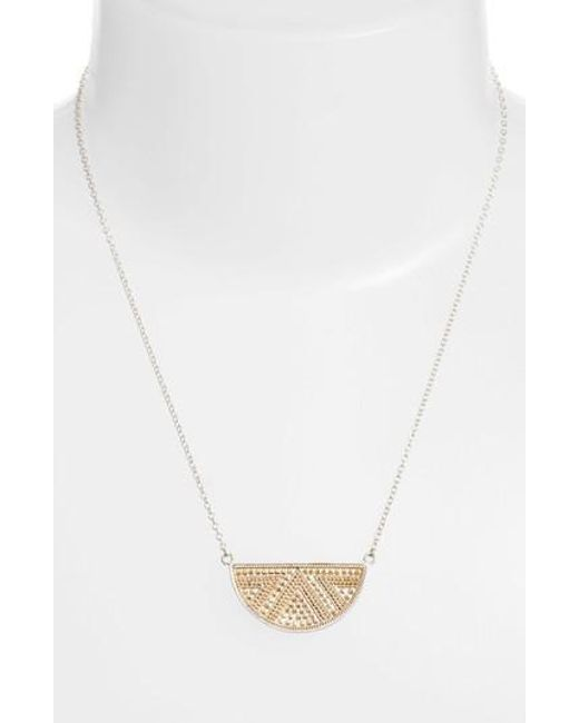 Anna Beck | Metallic Reversible Pendant Necklace | Lyst