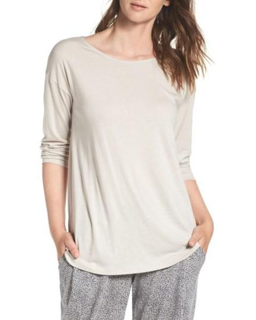 Hanro | Natural Drop Shoulder Lounge Tee | Lyst