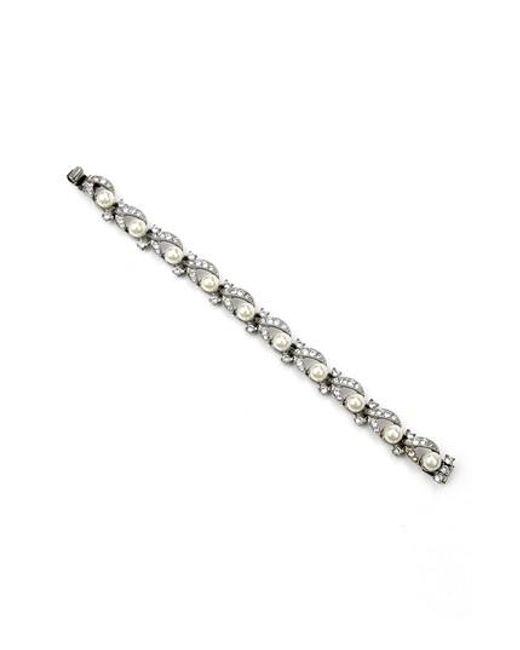 Ben-Amun | Metallic Faux Pearl Line Bracelet | Lyst
