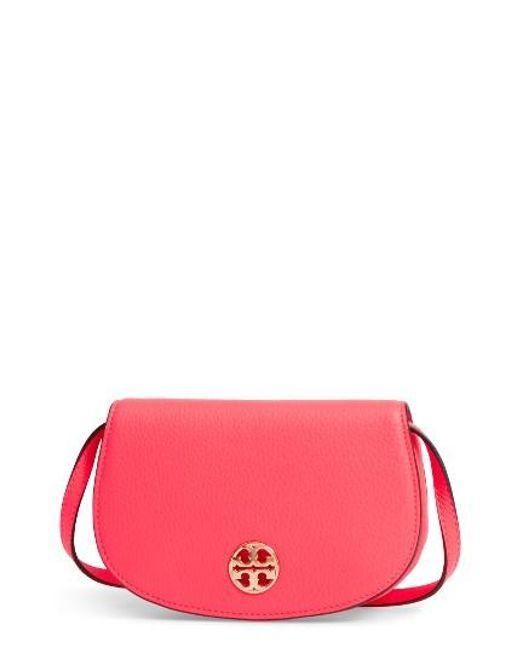 Tory Burch | Pink Mini Jamie Leather Crossbody Bag | Lyst