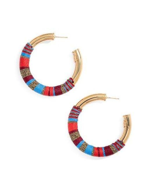 Gas Bijoux | Red Wrapped Hoop Earrings | Lyst