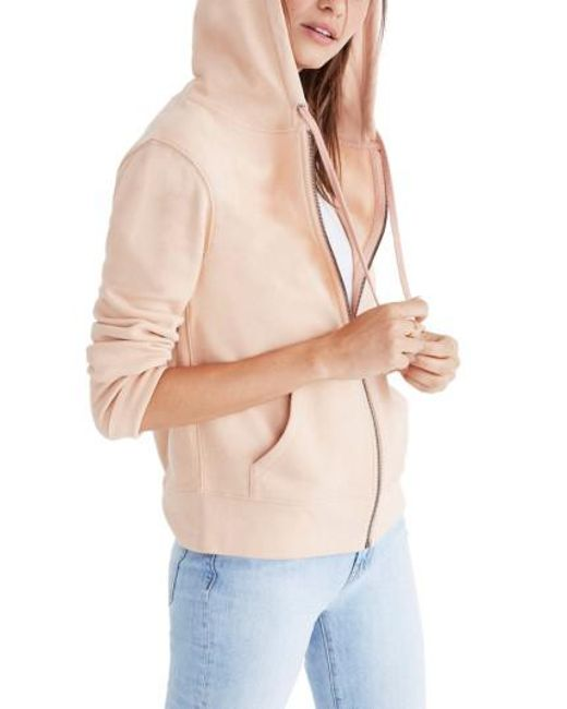 Madewell   Pink Embroidered Rainbow Zip Hoodie   Lyst