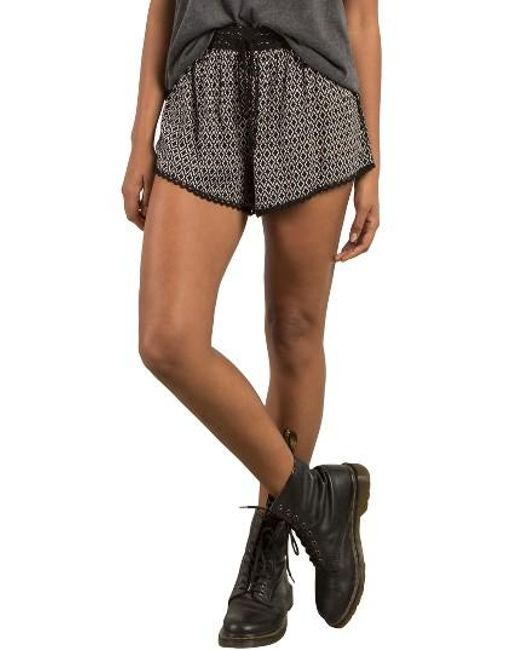 Volcom | Black Simple Things Shorts | Lyst
