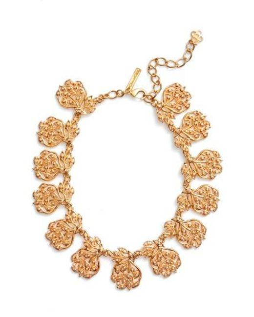 Oscar de la Renta | Metallic Collar Necklace | Lyst