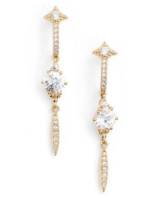 Nadri | Metallic Cardamom Linear Earrings | Lyst