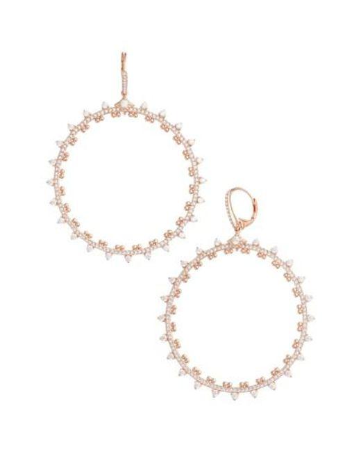 Nadri | Metallic Cardamom Frontal Hoop Earrings | Lyst