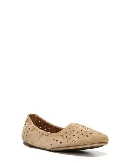 Sarto | Natural Brewer Perforated Ballet Flat | Lyst