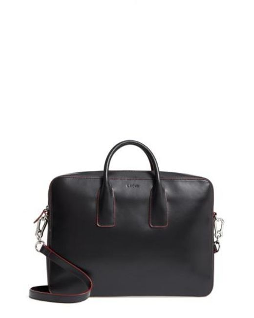 Lodis   Black Cadee Leather Convertible Laptop Crossbody Bag   Lyst