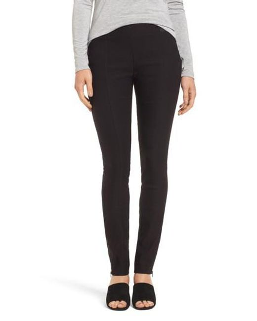 NIC+ZOE | Black Zip Ankle Wonder Stretch Pants | Lyst