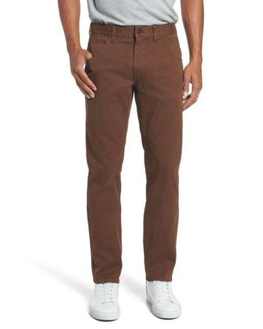Bonobos | Brown Bedford Carpenter Slim Fit Pants for Men | Lyst