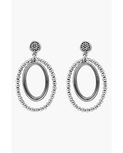 Lagos | Metallic Caviar Oval Twist Earrings | Lyst