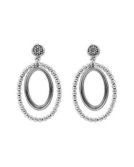 Lagos | Metallic Caviar Oval Twist Earrings | Lyst