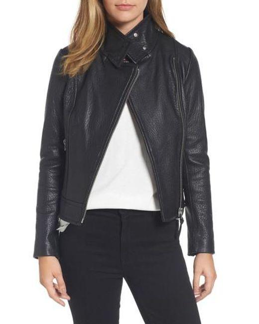 Mackage | Black Lisa Signature Leather Jacket | Lyst