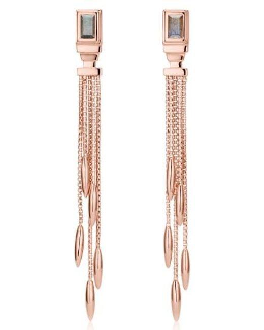 Monica Vinader   Metallic Baja Deco Fringe Earrings   Lyst