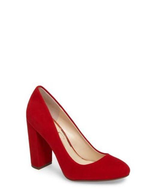 Jessica Simpson | Red Belemo Pump | Lyst