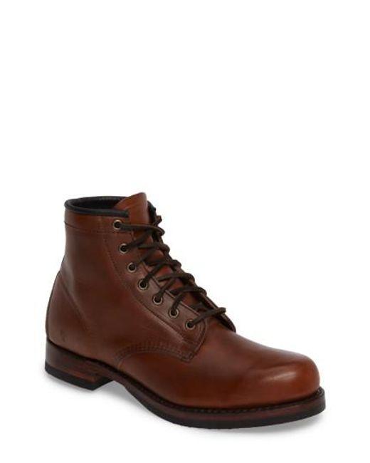 Frye | Brown John Addison Plain Toe Boot for Men | Lyst