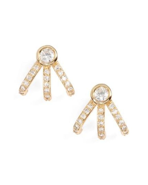 Melinda Maria | Metallic Mini Huggie Earrings | Lyst