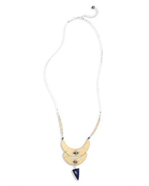 Nakamol | Blue Plate Howlite Statement Necklace | Lyst