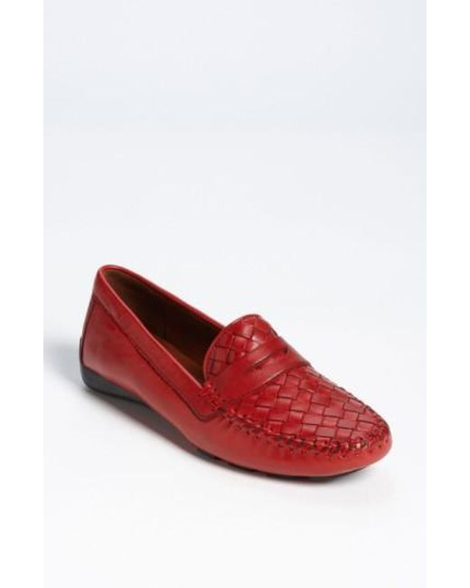 Robert Zur | Red Petra Leather Driving Shoe | Lyst