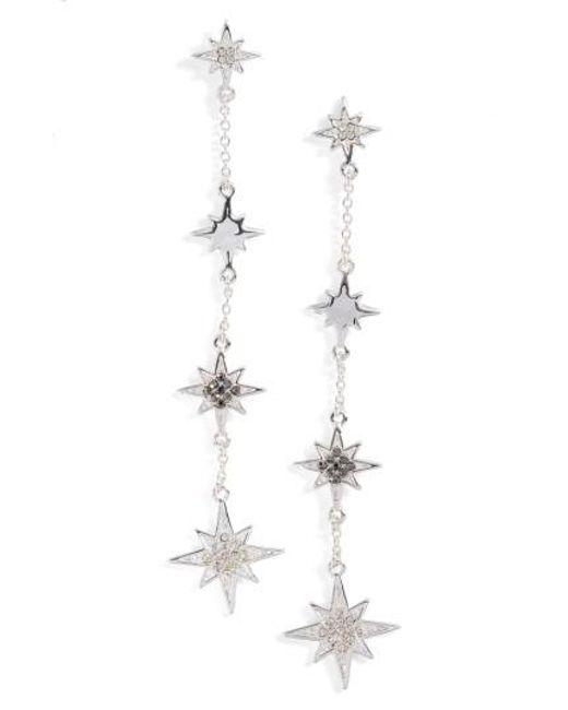 Rebecca Minkoff   Metallic Stargazing Night Sky Linear Earrings   Lyst