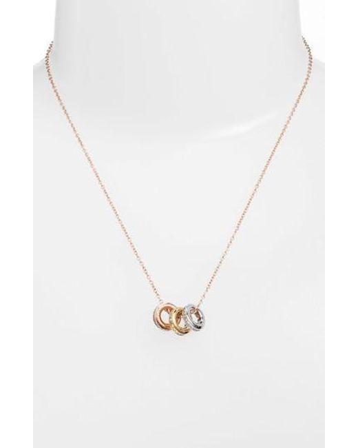 Michael Kors | Metallic Pendant Necklace | Lyst