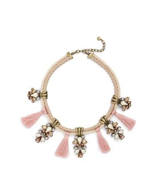 BaubleBar | Pink Repunzel Collar Necklace | Lyst