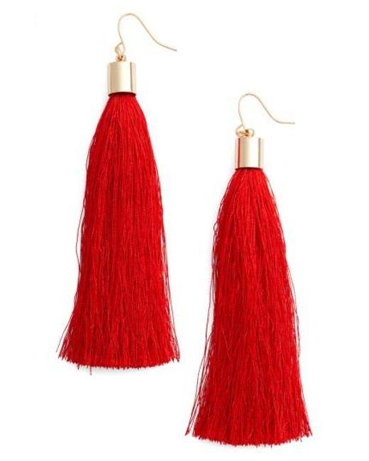 Adia Kibur   Red Tassel Earrings   Lyst