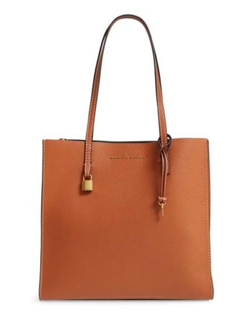 Marc Jacobs   Brown The Grind East/west Leather Shopper   Lyst