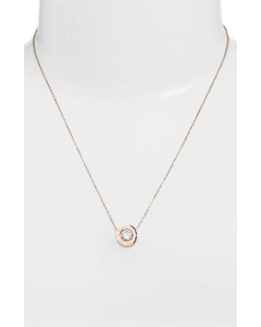 Michael Kors   Metallic Crystal Pendant Necklace   Lyst