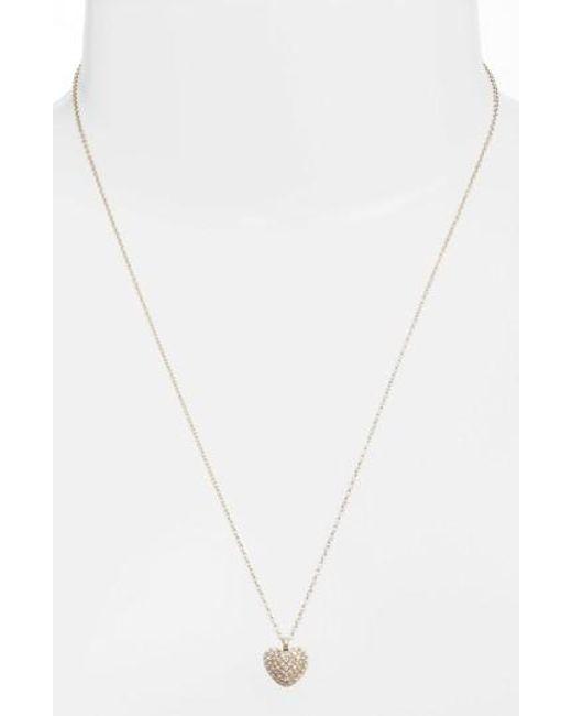 Michael Kors | Metallic Pave Heart Pendant Necklace | Lyst