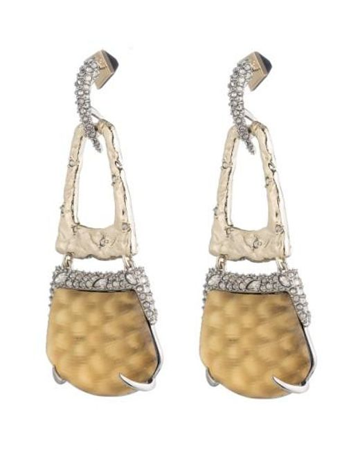Alexis Bittar | Metallic Lucite Crystal Accent Drop Earrings | Lyst